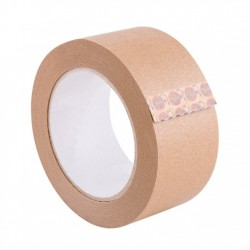 Recyclable paper tape for carton sealing and picture framing