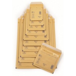 Bubble Lined Postal Bags, Gold Self Seal
