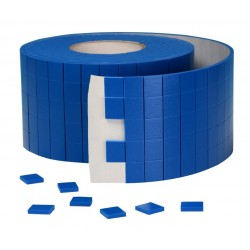 Foam transport pads with low tack adhesive
