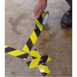 Black/Yellow Social Distance Marking Tape