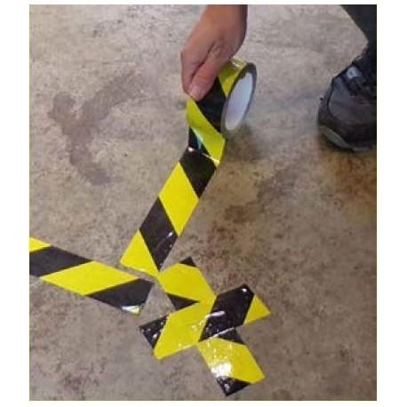 Black/Yellow Social Distance Marking Tape
