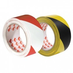 PVC Hazard Warning Premium Quality Adhesive Tape - Scapa 2724