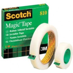 "Magic tape with 3"" & 1"" cores"