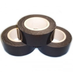 Black Low Tack polythene outdoor protection tape 80mu