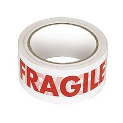 Printed FRAGILE Polypropylene tape